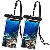 UNBREAKcable [2-Pezzi Custodia Impermeabile Smartphone - Borsetta Impermeabile IPX8 Dry Bag Telefono Cover Subacquea per iPho