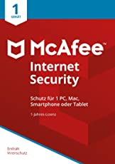 McAfee Internet Security 2018 | 1 Gerät | 1 Jahr | PC/Mac/Smartphone/Tablet | Download