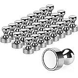 24 Stück Neodym Magnete, Temporaryt Extrem Stark Metall Magneten 12 x 16mm - Edelstahl Kegelmagnete Pinnwand Magnete für…