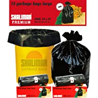 Shalimar Premium OXO - Biodegradable Garbage Bags (Large) Size 60 cm x 81 cm 6 Rolls (90 Bags) (Dustbin Bag/Trash Bag…
