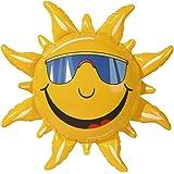 Widmann 2390S – uppblåsbar sol, 60 cm, dekoration, strandfest