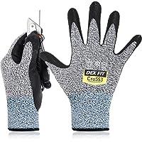 DEX FIT Level 5 Cut Resistant Gloves Cru553, 3D Comfort Stretch Fit, Power Grip, Durable Foam Nitrile, Smart Touch…