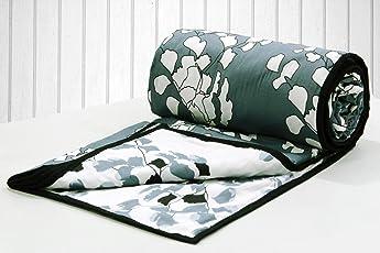 AURAVE Funky Leaves Multi Reversible 1 Piece Cotton Dohar
