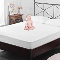 "OYO BABY Waterproof Mattress Protector Hypoallergenic Single Bed Cover (White, 72""x36""xSkirting 12"")"