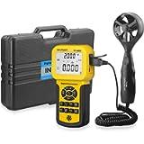 INFURIDER YF-846A Digital Anemometer 0.3~45m/s Wind Speed Meter Guage Measures Wind Speed,Wind Flow,Temp CFM CMM HVAC…