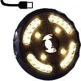 LVERSE Parasol Lights, USB Rechargeable LED Umbrella Lights, 3 Brightness Modes Cordless Parasol led Lights for Garden…