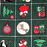 Tissu Noël et pois x51cm - Vert