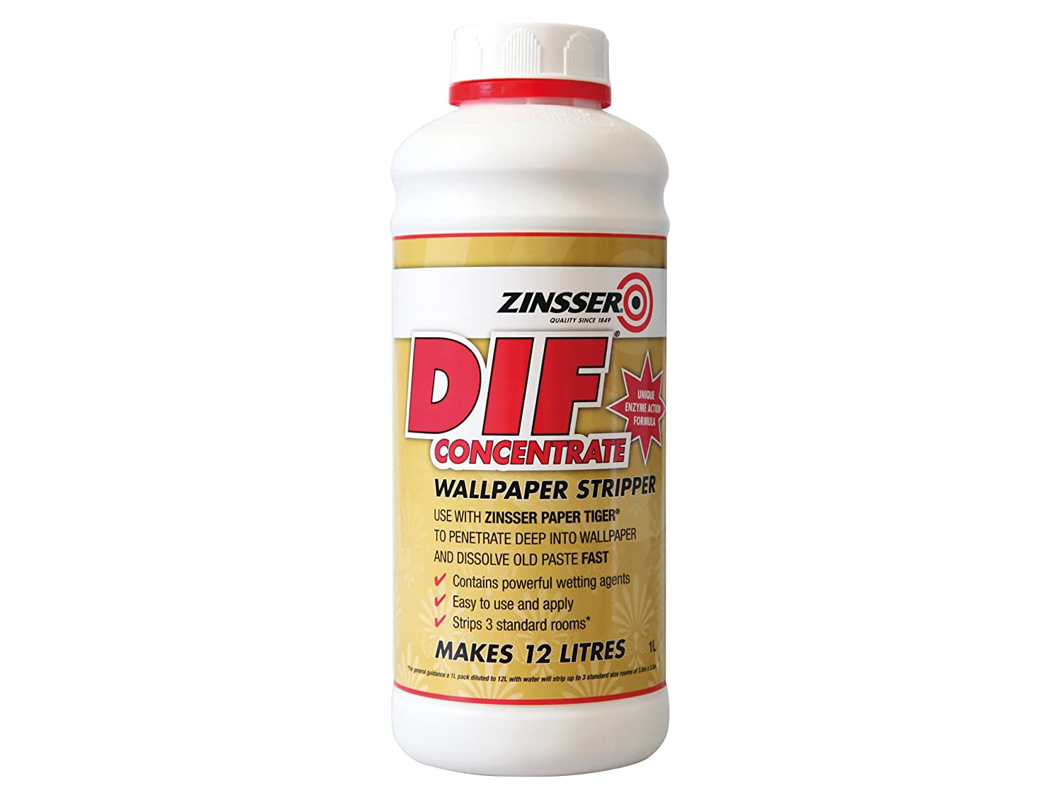 Wall paper remover - Dif By Zinsser Wallpaper Stripper Concentrate 1lt Amazon Co Uk Diy Tools