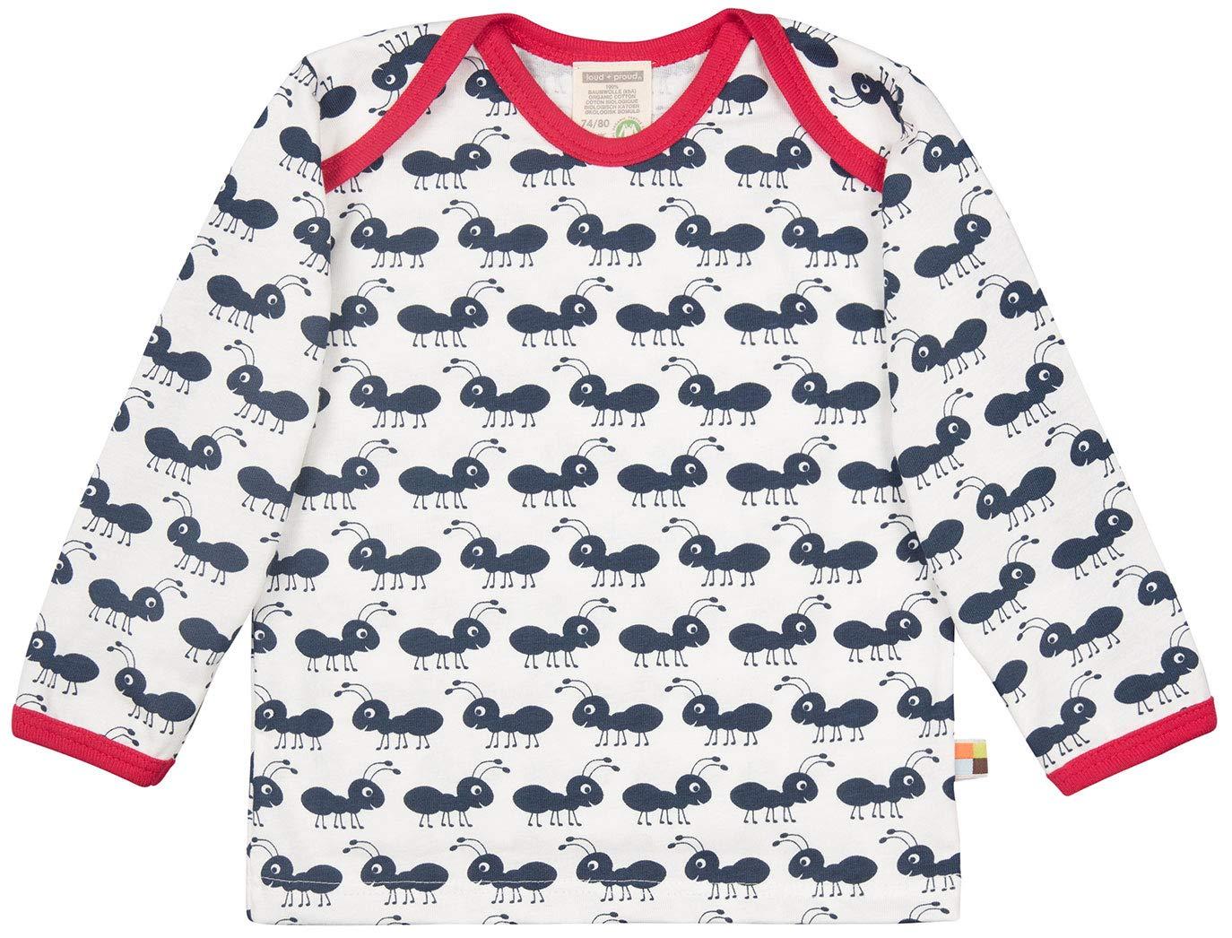 sky sk Loud 98//104 Baby T-Shirts Tierdruck 204 Blau Proud Unisex