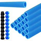 LZQ 16x stangbescherming voor trampoline netpalen schuimstofrol blauwe buizen bekleding 92 cm voor 8 stangen veiligheidsnet i