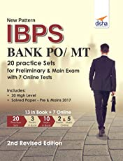 New Pattern IBPS Bank PO/MT 20 Practice Sets for Preliminary & Main Exam with 7 Online Tests