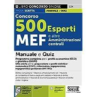 Concorso 500 Esperti MEF e altre amministrazioni centrali