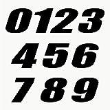 Autodomy Pegatinas Números Moto Motocross Pack 10 Unidades para Moto (Negro)