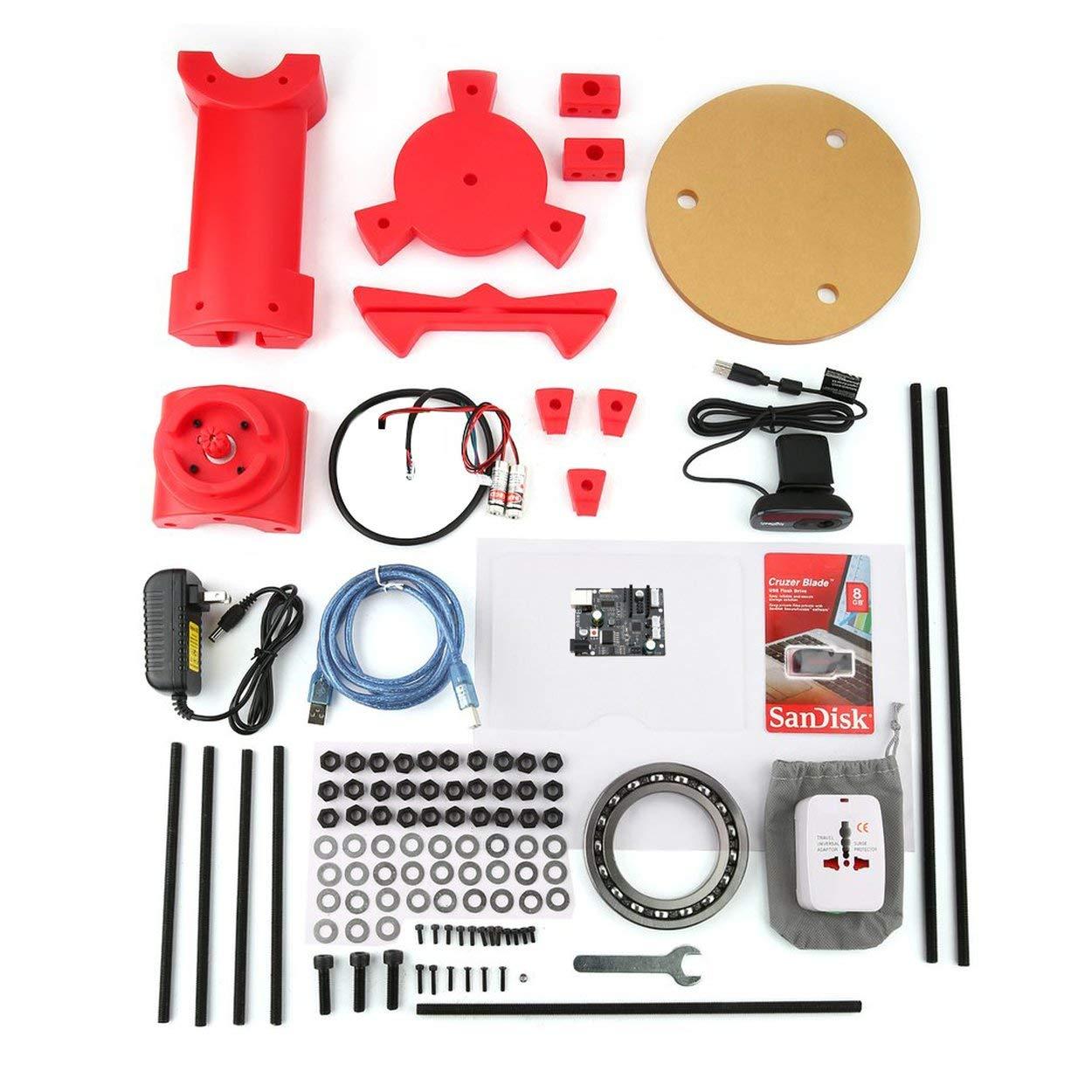 Lorenlli Kit de Plaque de Scanner Bricolage Haute précision 3D Un Adaptateur de Bureau Scanner adapté à l'imprimante Ciclop
