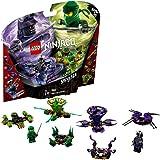 LEGO Ninjago Spinjitzu Lloyd vs. Garmadon - Peonzas de ninjas de juguete, color verde y morada (70664) , color/modelo surtido