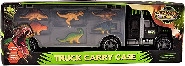 IGP Dinosaur Series Toy Figures in a Truck Carry Case for Kids