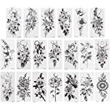20 Sheets Full Arm Tattoos Stickers Waterproof Temporary Flower Tattoos