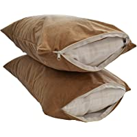 Sleeprest Cotton 220 TC Pillow Cover (Standard_Beige)