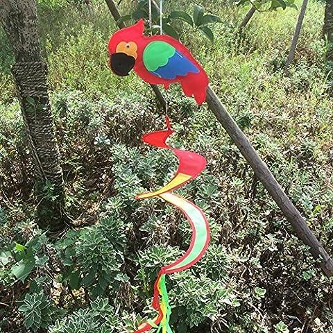Dairyshop Animal Spiral Windmill Colorful Wind Spinner Lawn Garden Yard Outdoor Decor 1pc (Bird)
