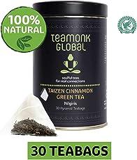 Teamonk Nilgiri Taizen Cinnamon Green Tea for Weight Loss, 30 Teabags
