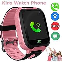 Bambini Smart Watch Phone, GPS Tracker Smart orologio da polso per 3-12 anni Ragazze con SOS Camera Sim Card Slot Touch…