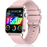 Judneer Smartwatch, Orologio Fitness con 1.4 Pollici Touchscreen a Colori Smart Watch Rosa, Impermeabile IP68 Cardiofrequenzi
