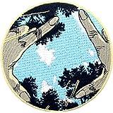 Toppa ricamata da applicare con ferro da stiro o cucitura, tema: Non sono solo