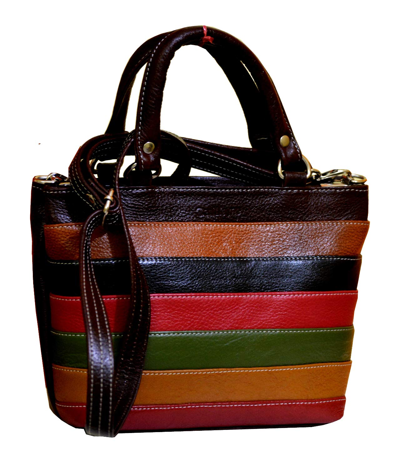 c93fe47fa1 GenWayne small stylish leather handbags for women side sling leather purse  (pure leather bag) (Multicolor)