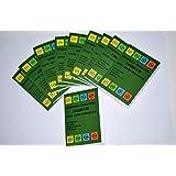 Geo-verzending Unisex - Volwassene pak van 10 Geocaching 40 pagina's voor dozen, logboek voor containers Regular-normale Duit