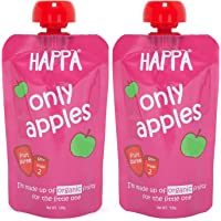Happa Organic Baby Food, Apple Puree, Stage-2, 2 Pouch, 100g Each