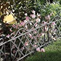 Garden Mile® Decorative Victorian Style Garden Fencing Garden Lawn Edging Black Or White Picket Fence, Wrought Iron Effect Garden Border Fencing Panels Edging For Lawns,Borders,Flower Beds And Stones. 45cm x 35cm Each Panel.