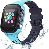 PTHTECHUS Reloj Inteligente para Niños a Prueba de Agua IP67, Teléfono Smartwatch LBS localizador SOS Alarma por Chat de Voz