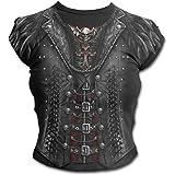 Spiral - GOTHESS Wrap - T-Shirt à Mancherons - Motif imprimé - Noir