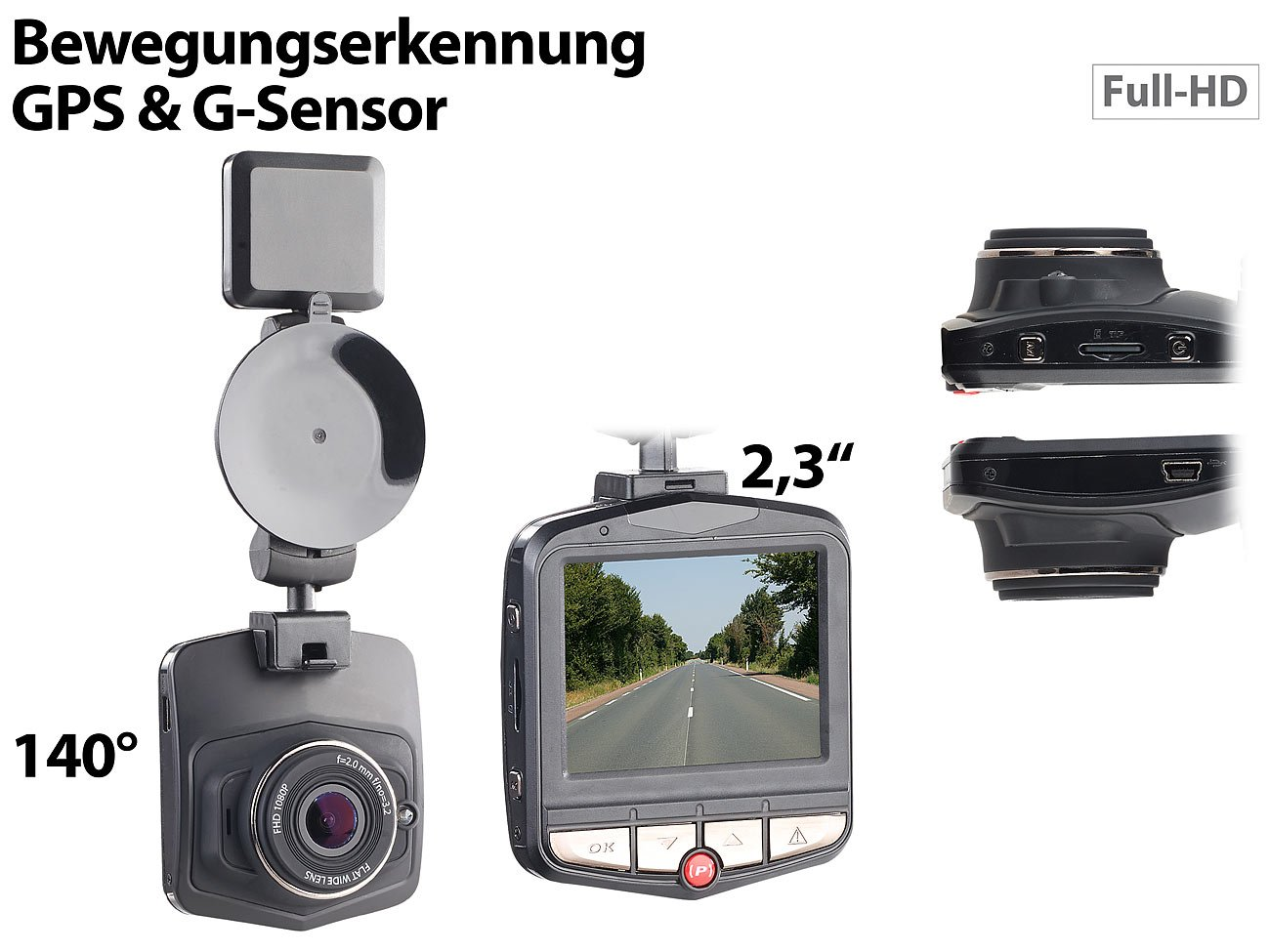 NavGear-Kamera-fr-Auto-Full-HD-Dashcam-MDV-2770GPS-mit-GPS-G-Sensor-58-cm-Display-23-Video-Dashcam