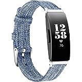 KIMILAR Bandje compatibel met Fitbit Inspire 2/Fitbit Inspire/Fitbit Inspire HR/Fitbit Ace 2/Fitbit Ace 3, zachte stoffen ban