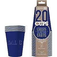 Pack de x20 Original Blue Cups Officiels | Gobelets Américains 25cl Bleus en Carton | Beer Pong Qualité Premium | Verres…