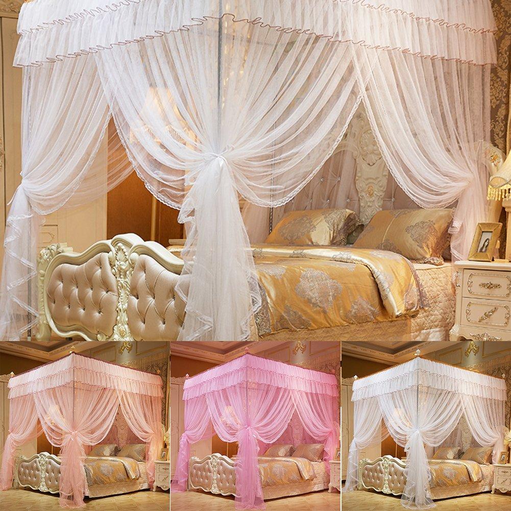 Sue fornitura 1.5 x 2 m four-corner floor-length zanzariere baldacchino  principessa Queen Mosquito net biancheria da letto matrimoniale tenda  schermo ...