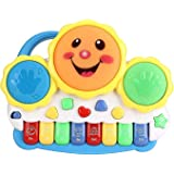 Royals Hub® Drum Keyboard Musical Toys with Flashing Lights Animal Sounds and Songs Smiley Piano and Keyboard Musical…