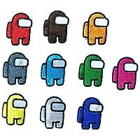 Cucire Toppe Termoadesive Bambini 10 Pezzi Among Us for Giacche Cappello Abbigliamento Borse Decorazione
