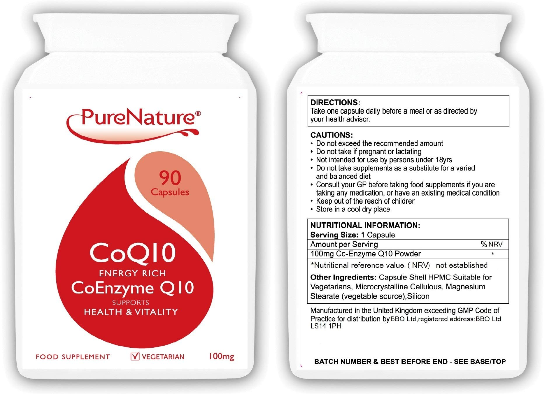 71OqVeMEu2L - Co-Enzyme Q10 High Grade Rapid Absorption 100mg | 90 Easy One-a-Day Vegetarian Capsules| 100% SATISFACTION GAURANTEE…