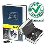 DOCOSS Hidden Secret Book Safe Vault Box Jewelry Locker with 2 Keys, 24 x 15.5 x 5.5 cm, Multicolour