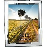 PETAFLOP Cadre Photo Verre 20x25 cm, Cadre Photo Moderne Argenté à Poser pour Chambre Bureau
