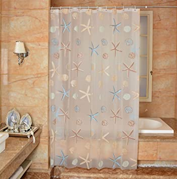 LikeYou Extra Long PVC Free Bathroom Liner Environmentally Non Toxic Shower  Curtain PEVA Waterproof And Mildew Resistant With Hooks, Semi Transparent,  ...