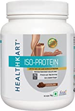 Healthkart 100% Whey ISO-Protein, Isolate, Zero Sugar, Low Carb, Low Fat-1 Kg/2.2lb Whey Protein