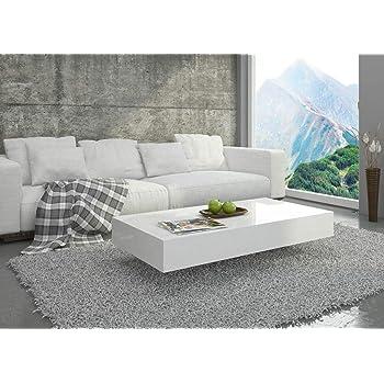 Couchtisch Hochglanz Weiß Wohnzimmer Tisch Beistelltisch Kaffeetisch