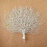 Blumen Simulation Coral Branch Pfau Hause Room Decor Dekoration Handwerk (White)