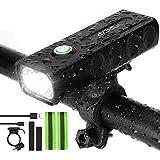 IPSXP 1000 lúmenes Luz Bicicleta, USB Recargable LED Faro Delantero para Bicicleta Alto Brillo 6 Horas Linterna de Seguridad