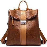 Realer Rucksacktasche Damen, Wasserdichte Handtasche Rucksack 2 in 1, Elegante Rucksackhandtasche als Lederrucksack…