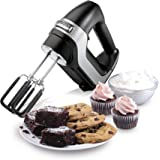 Hamilton Beach Professional 7-Speed Digital Electric Hand Mixer with Quiet DC Motor, SoftScrape Beaters, Whisk, Dough Hooks,
