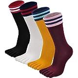PUTUO Calcetines de Dedos Mujer Calcetines Cinco Dedos de Deporte, Mujer Calcetines del Dedo del Pie, Calcetines de Algodón,